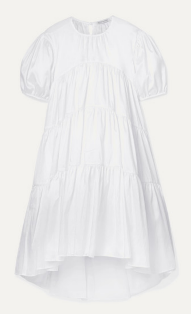 Hilary Dick choose loose A Line dress for spring.