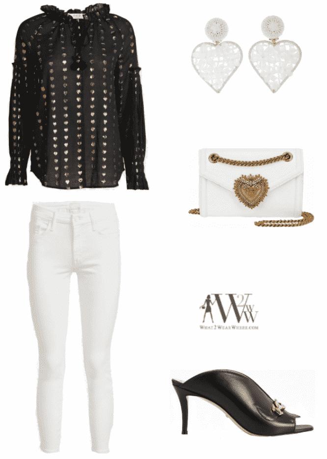 Karen Klopp fashion advice, what to wear.  Hearts.