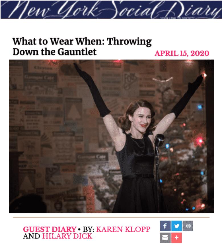 NYSD:  History of Gloves