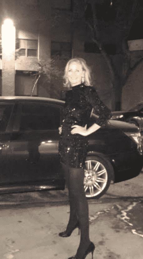 Hilary Dick wears Zara cocktail party
