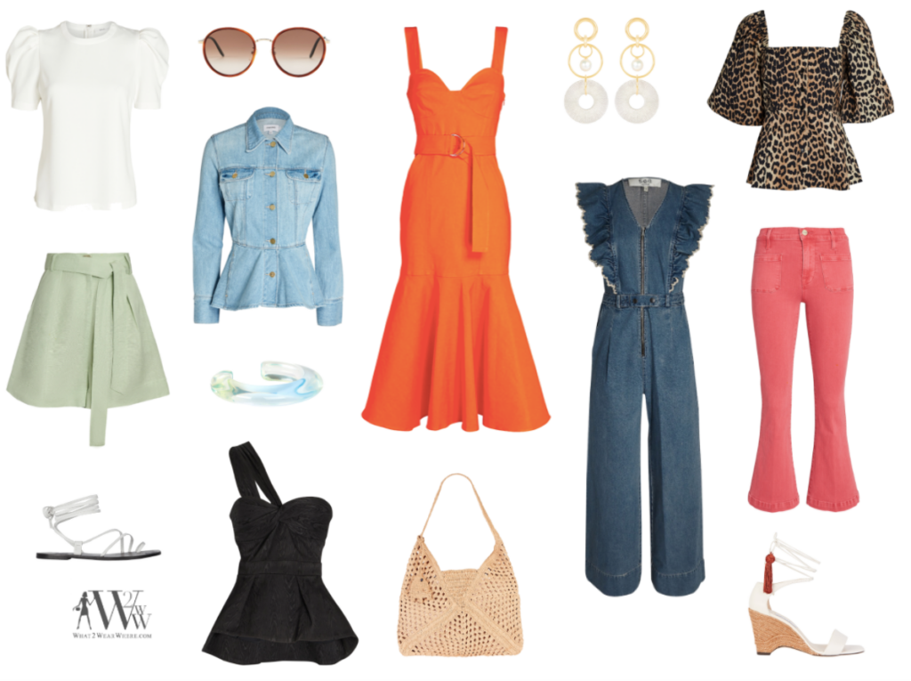 What to wear where, Hilary Dick top choices  for a April finds on interminx.
