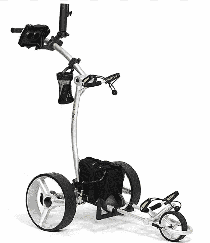 Karen Klopp fashion advice what to wear to play golf. Best golf automatic push cart.