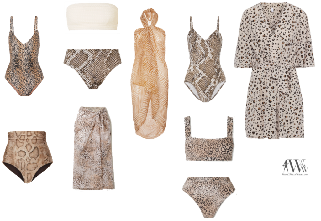 Karen Klopp fashion advice what to wear Memorial Day Weekend, must have swimwear animal prints