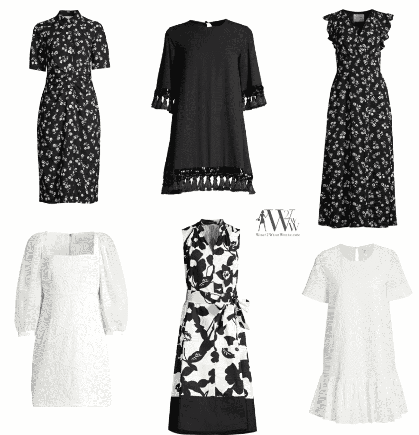 What to wear in summer.  Karen Klopp choose her favorites black and white dresses.