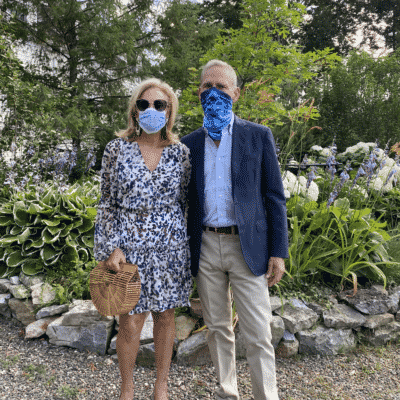 John and Karen Klopp wearing masks