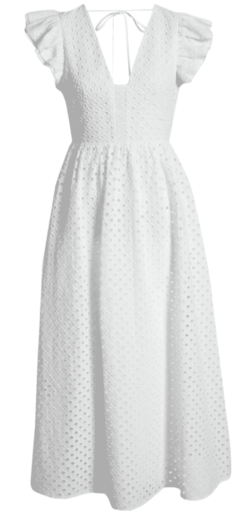 karen klopp picks the best white eyelet dress for summer 2020