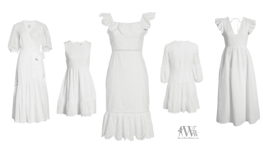 Karen Klopp picks the top 10 white eyelet dresses for summer.