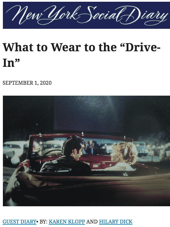 """NYSD """"Drive-In"""""""