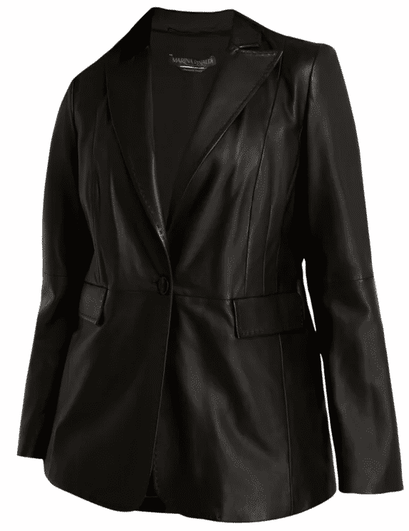 Karen Klopp fashion advice best Black Leather Jackets.