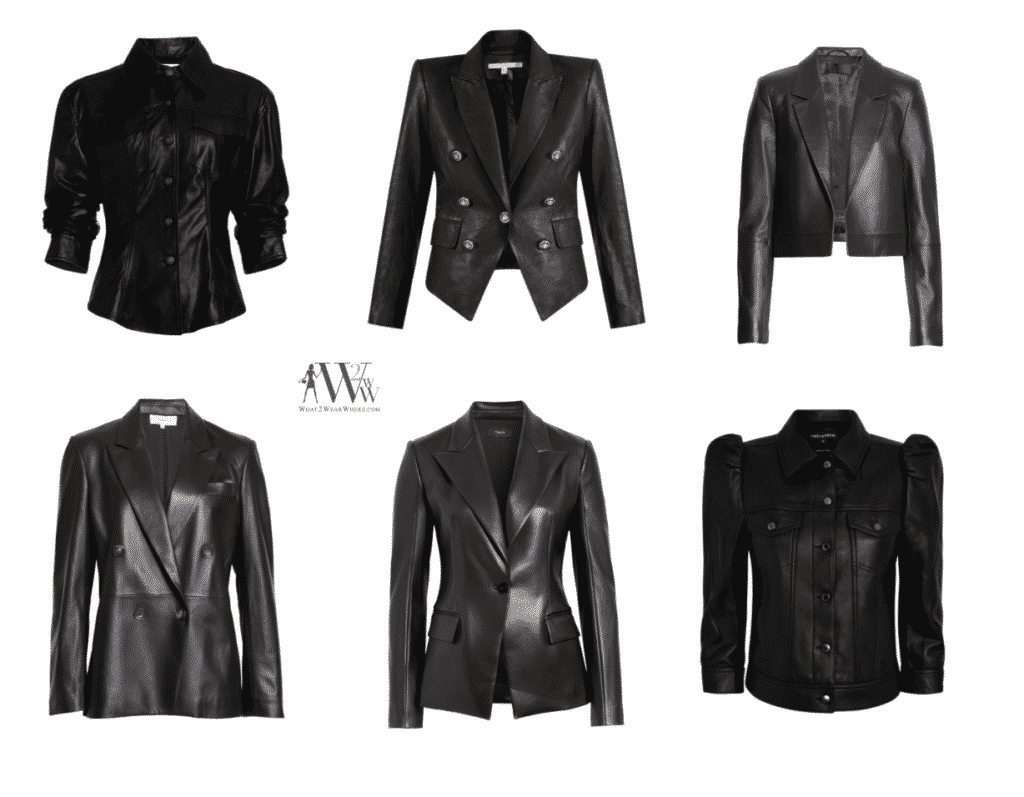Karen Klopp fall fashion pick.  Best leather Jacket