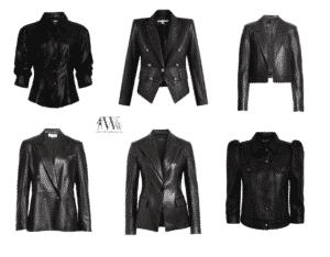 Karen Klopp best black leather jackets this season