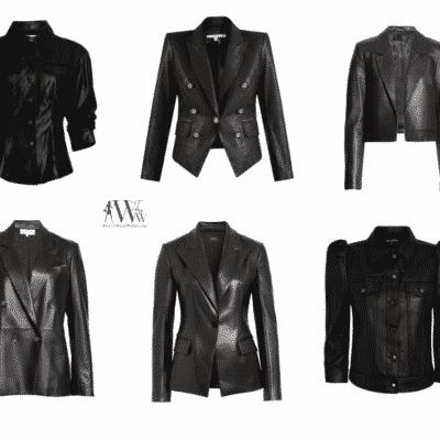 Karen Klopp best black leather jackets this season