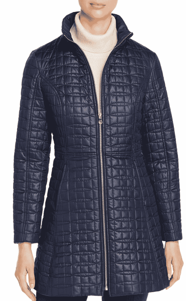 Karen Klopp ariticle on best quilted jackets and vests,  Kate Spade