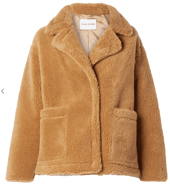 What to wear this winter.  Big fuzzy Coat.