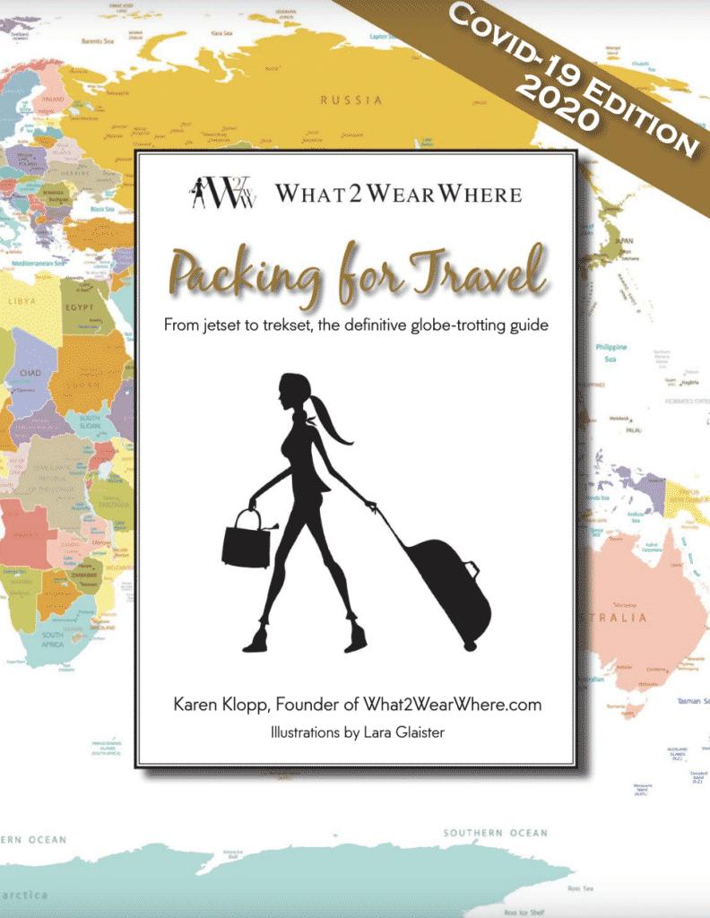 What to wear on the plane.  Karen Klopp, Packing for Travel.
