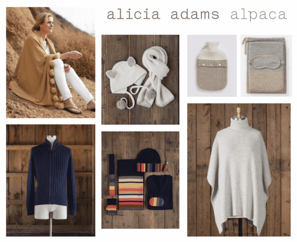 Karen Klopp shops her friends for Holiday Gifts Alicia Adams Alpaca.