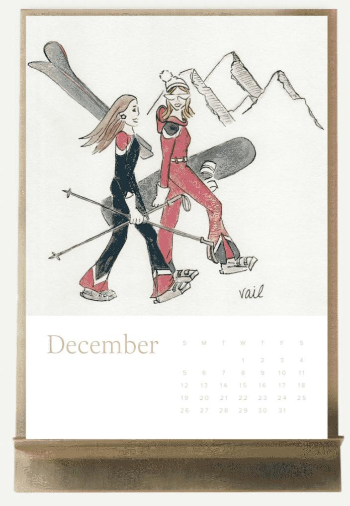 Doodles by Gigi calendar for ASHA jewelry