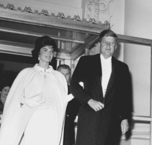 John and Jackie Kennedy inauguration