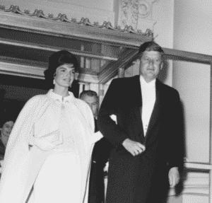 John and Jackie Kennedy inauguration