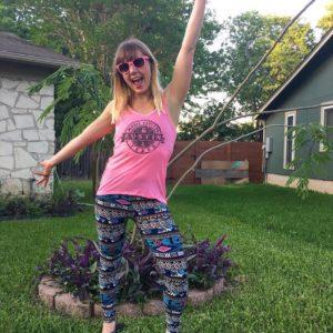 becca jones, owner of enjoy leggings