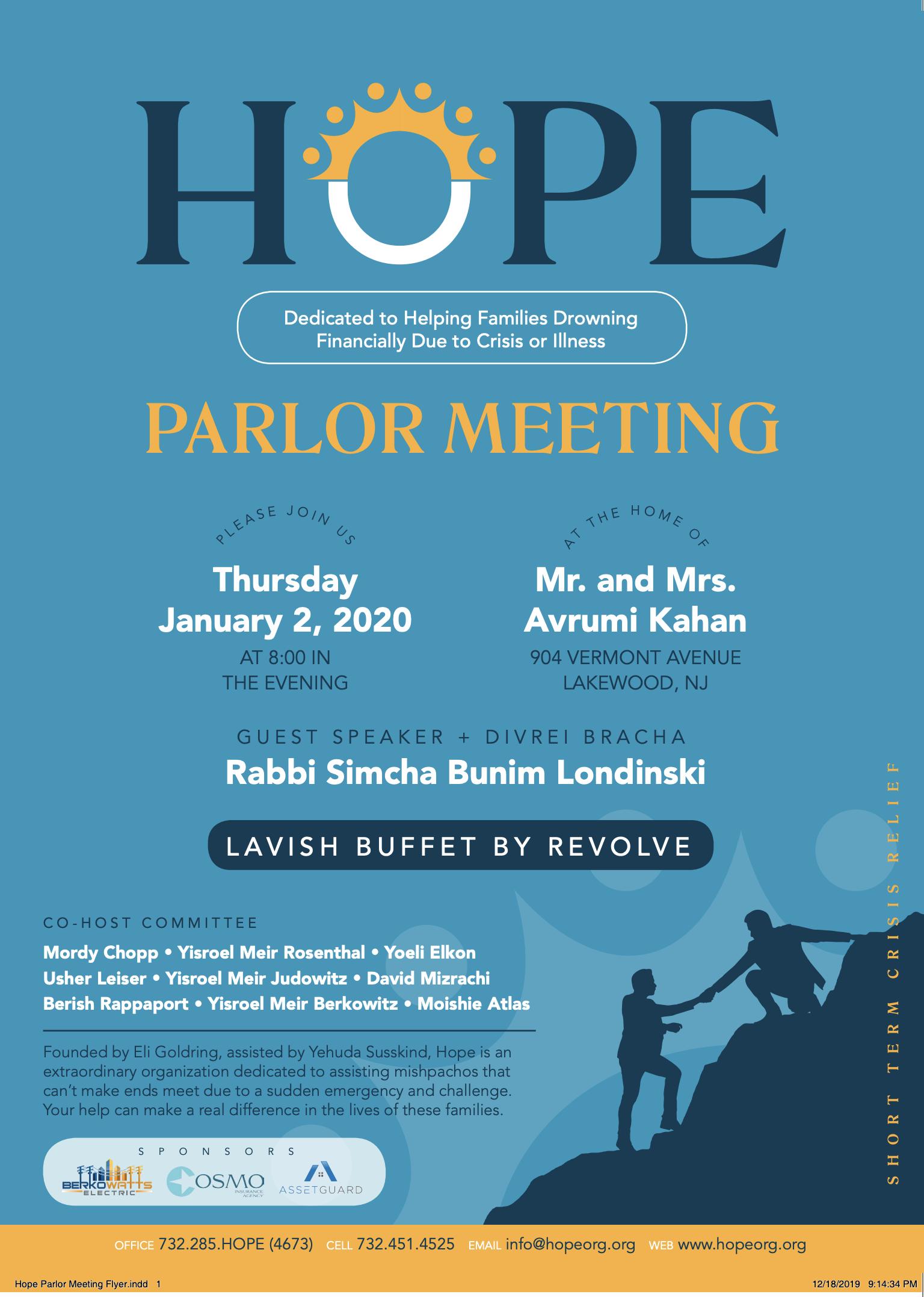 Parlor Meeting - Jan 2020