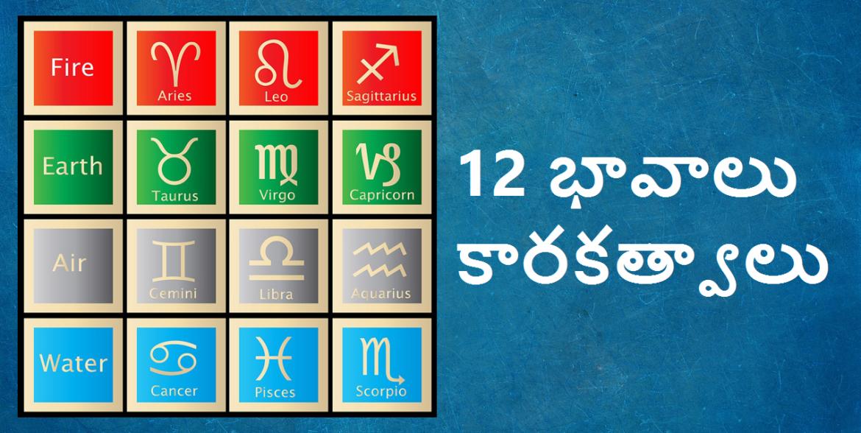 Astrology Karakas of 12 Houses – 12 భావలు – కారకత్వాలు