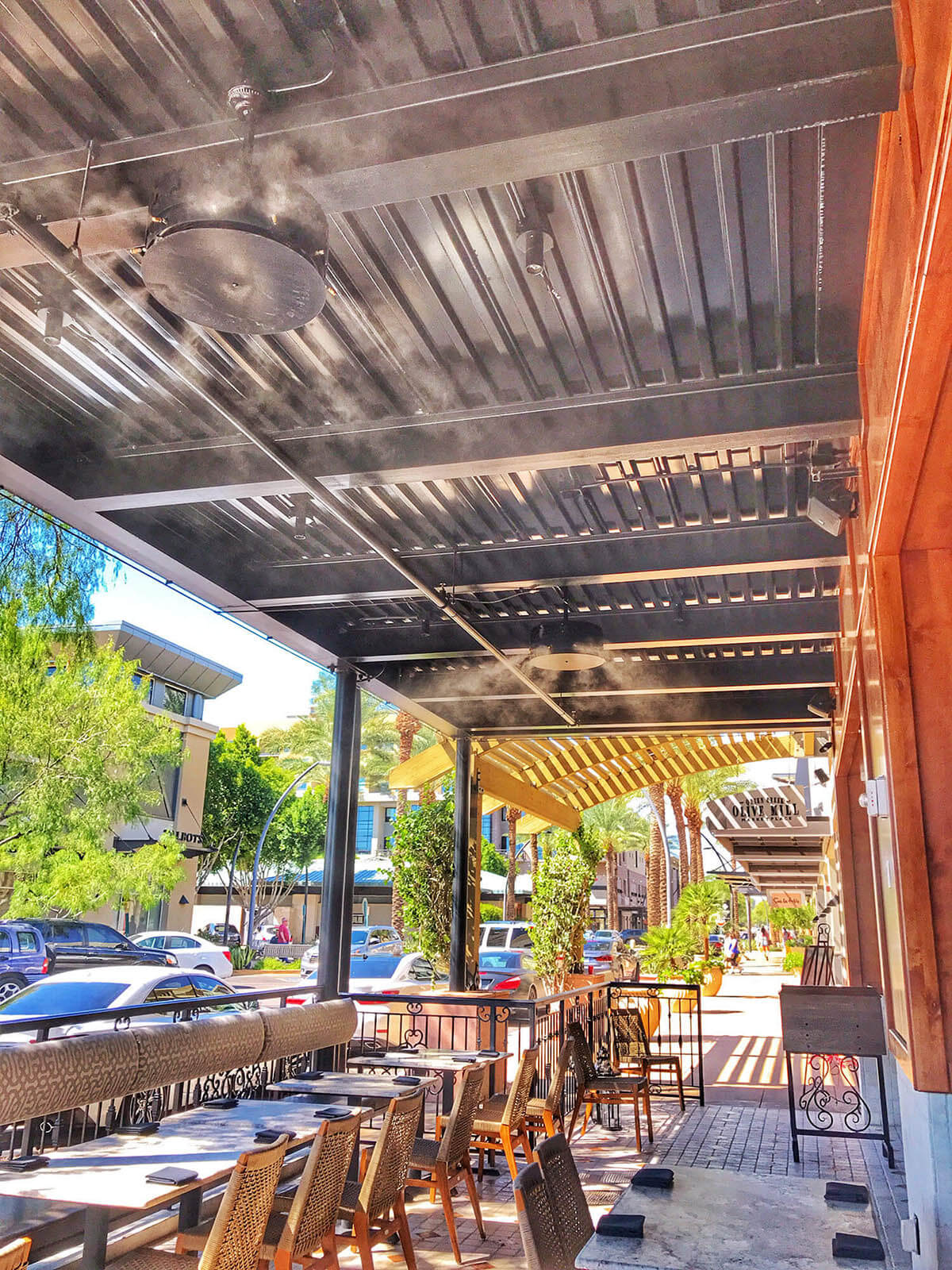 commercial misting systems for hot weather