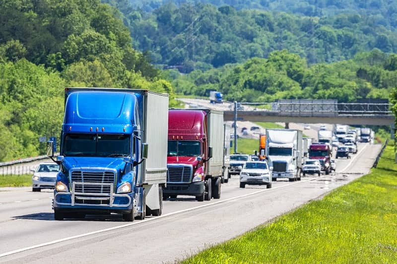Heavy Traffic On The Interstate Highway-cm