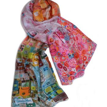colorful silk scarf