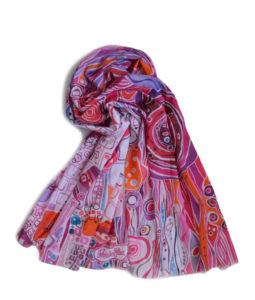 colorful bright cotton scarf