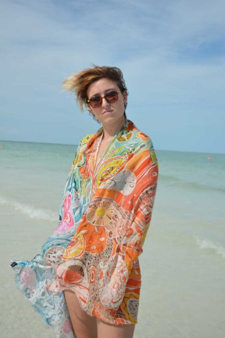 colorful; whimsical, modal scarf