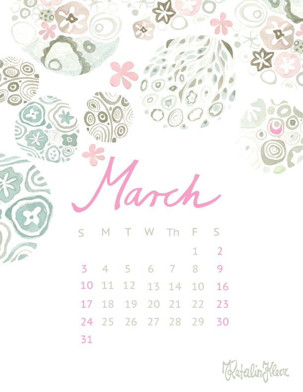 Calendar collection – March 2019