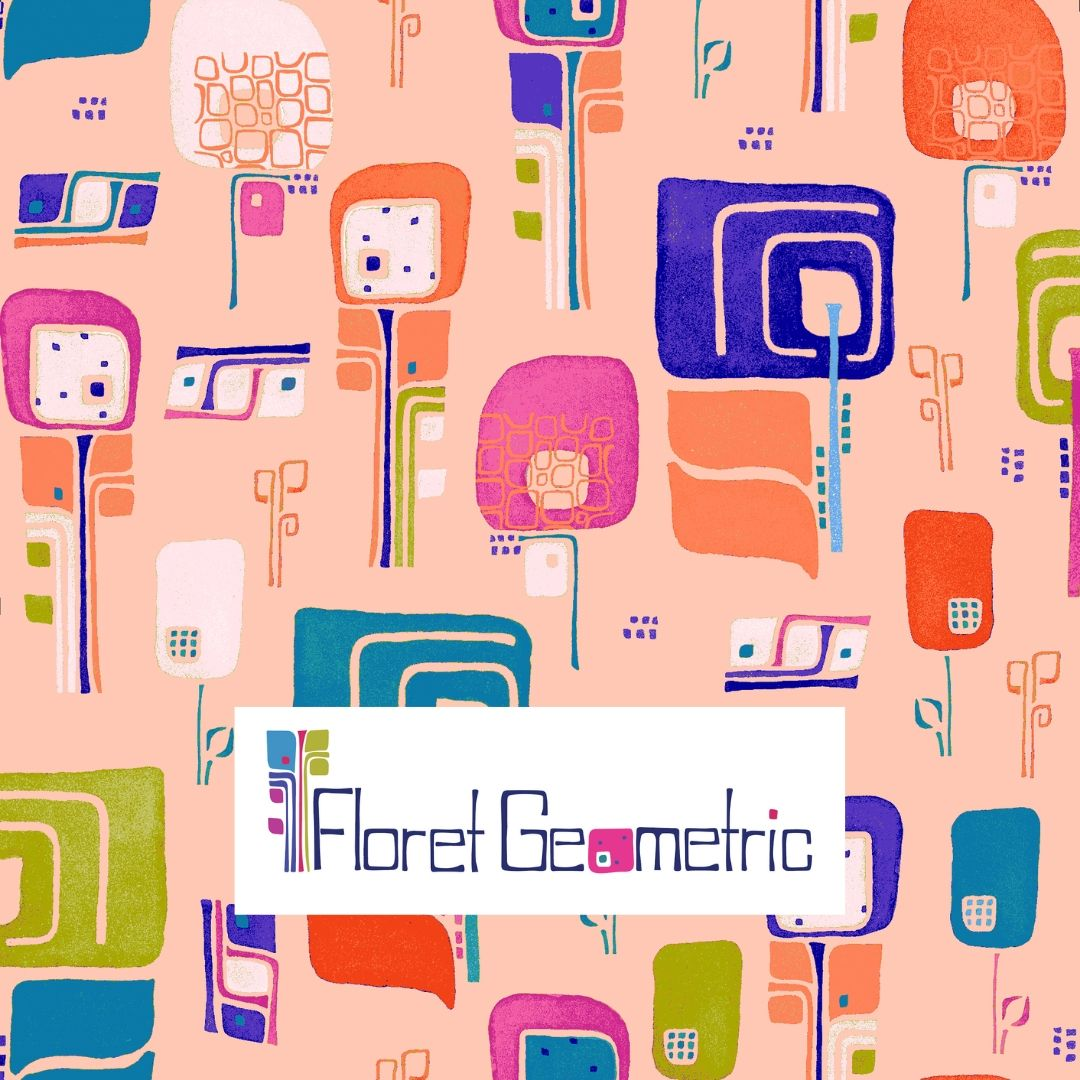"My first fabric collection ""Floret Geometric"""