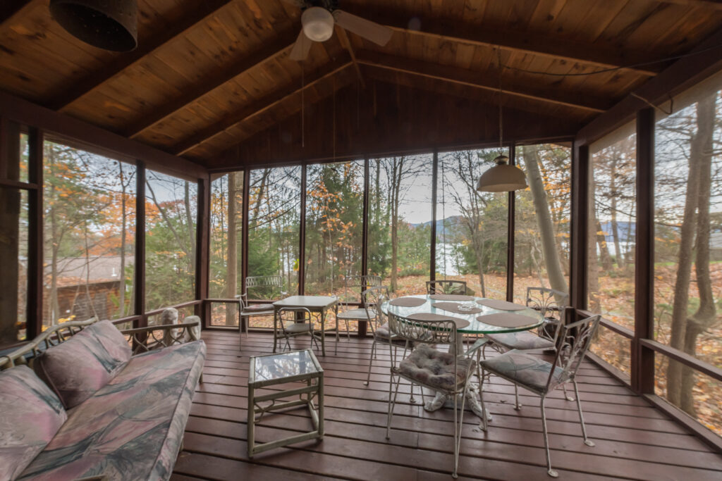 The screened porch in autumn