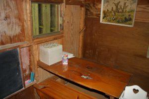 Inside the playhouse