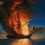 Feb 16th, 1804 America & Sicily attack Barbary Coast Pirates