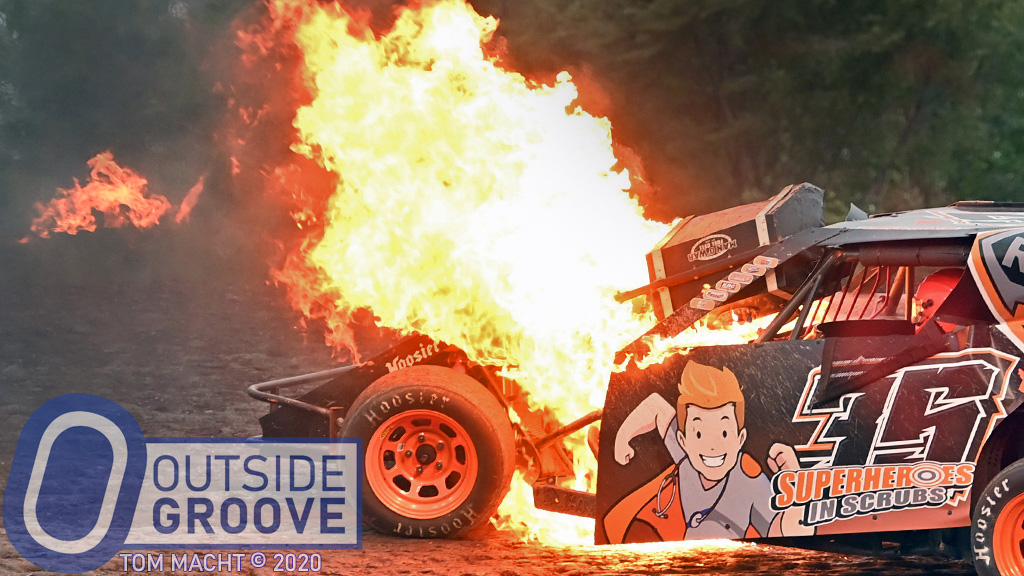 Chance Huston: Fuel Cell Lands on His Car, Fire Erupts