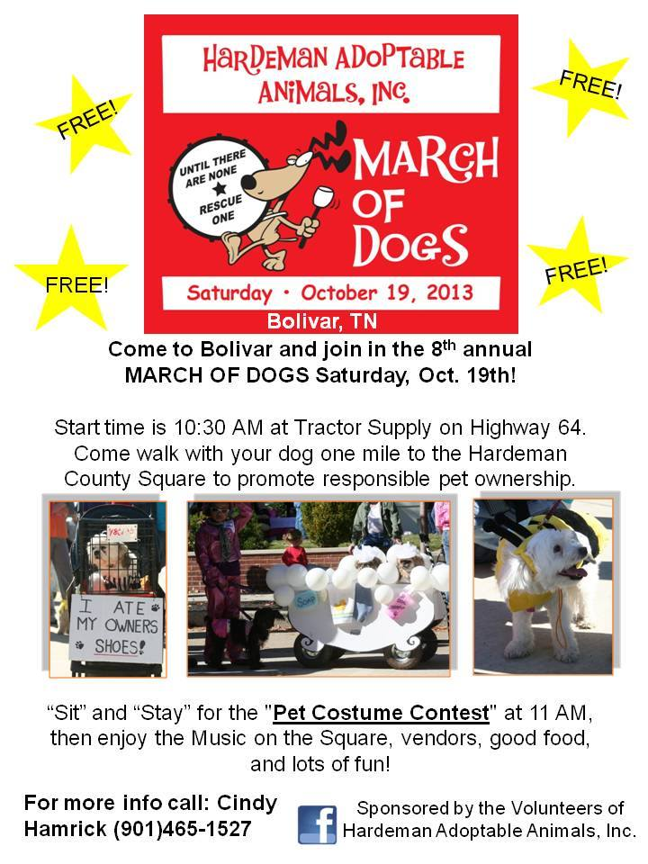 March of Dogs – Sat., 10/19