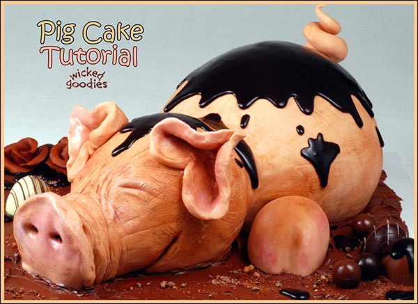 ow to Make a Pig Cake by Wicked Goodies