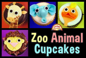 Baby Zoo Animal Cupcakes