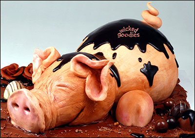 Pig Cake by Wicked Goodies