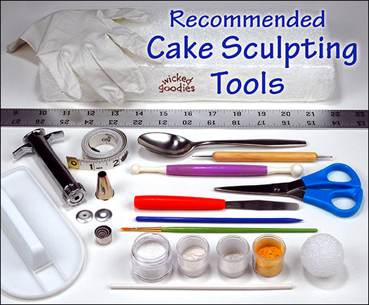 Recommended Cake Sculpting Tools by Wicked Goodies