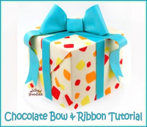 Chocolate Bow and Ribbon Tutorial by Wicked Goodies