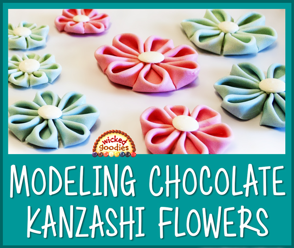 Modeling Chocolate Folded Kanzashi Flowers Tutorial