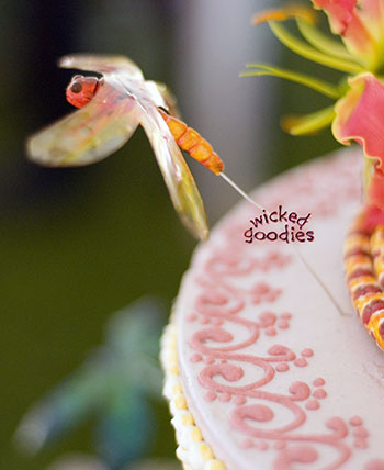 Gumpaste and Gelatin Dragonfly by Wicked Goodies