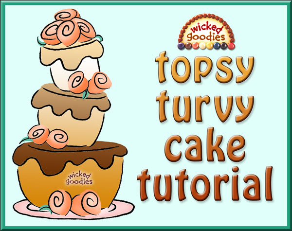 Topsy Turvy Cake Construction Tutorial by Wicked Goodies