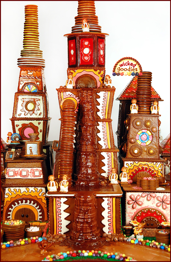 Wonka Gingerbread House Design