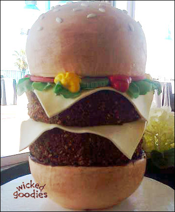 Cheeseburger Cake by Wicked Goodies