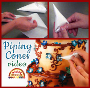 Parchment Paper Piping Cones