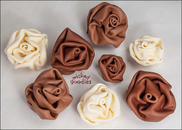 Modeling Chocolate Fabric Roses by Wicked Goodies